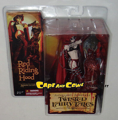 McFarlane's Monsters Twisted Fairy Tales RED RIDING HOOD Figure MOC Sealed 2005