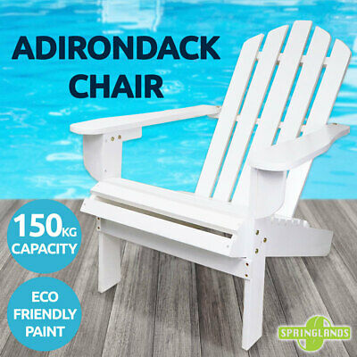Adirondack Chair Outdoor Furniture Garden Beach Deck Folding White