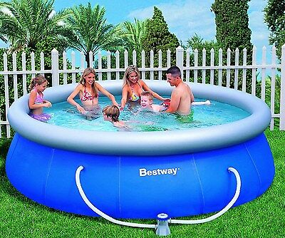 Large Inflatable Swimming Pool with Pump Bestway Above Ground Family Pool 3.66m