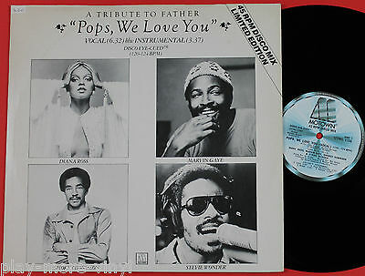 "DIANA ROSS/MARVIN GAYE/SMOKEY ROBINSON/STEVIE WONDER Pops We Love You 12"" Motown"