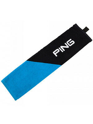 Ping Trifold Towel Black/Blue