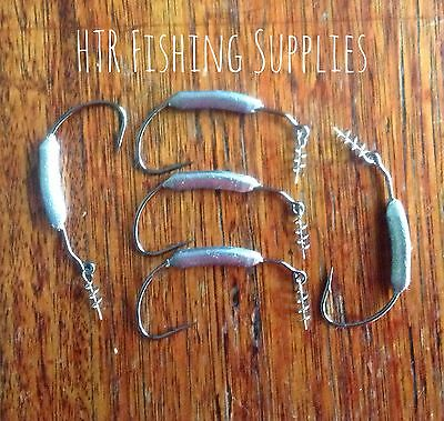 5 X 1/4 Weighted Weedless Jig Hook (size 4/0)