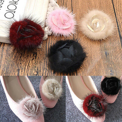 1 Pc Flower Fluffy Accessories Elegant Shoe Buckle Shoe Clips Wedding Bridal
