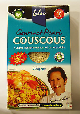 Blu Gourmet Pearl Couscous 250g, 100% Natural, Kosher, Recipes inside