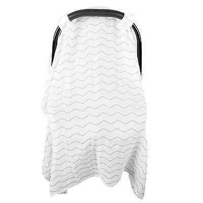 Chevron Baby Car Seat Cover - Unisex Extra Large Lightweight & Breathable Canopy