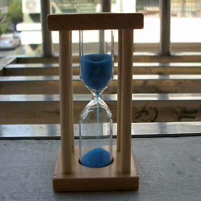 Wooden Hourglass Sandglass Sand Clock Timer for Kids Brushing 1/3/5minutes GS