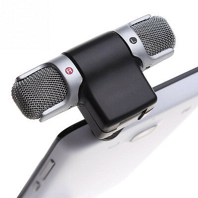 Stereo Microphone Record Mic 3.5mm Jack for PC Laptop Notebook MP3/4 Cellphone