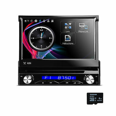 "1 Din 7"" Autoradio Bluetooth DVD GPS Navigation Touchscreen Display Monitor CD"