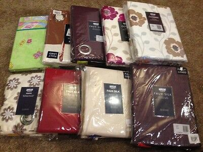 joblot/bundle of brand new curtains, assorted sizes and designs