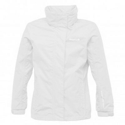 Regatta Spellbind Girls Waterproof Lightweight Shell Jacket White 7-8