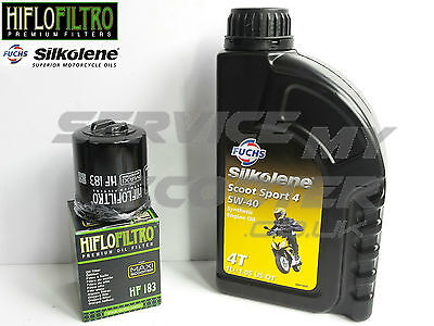 GILERA DNA 125cc 01-03 HIFLO OIL CHANGE SERVICE KIT, OIL FILTER, SILKOLENE