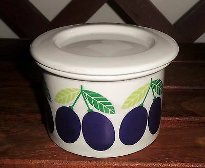 Arabia Finland POMONA Plum Jam Jar Lidded Pot