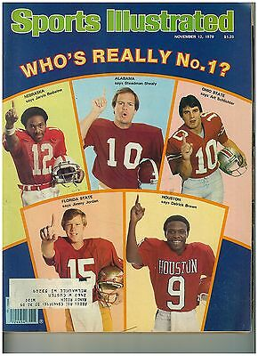 Nov 12 1979 issue of Sports Illustrated College Football No.1 Cover