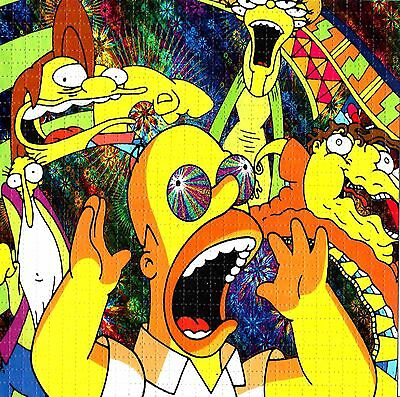 Simpson's Bad Trip Blotter Art Psychedelic Lsd Acid Free Paper 900 Squares