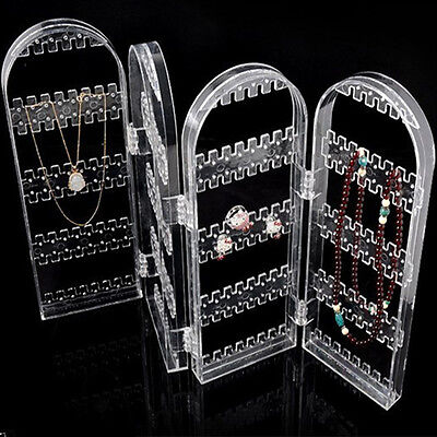 Foldable Jewel Earring Necklace Ring Show Rack Holder Display Stand Organizer