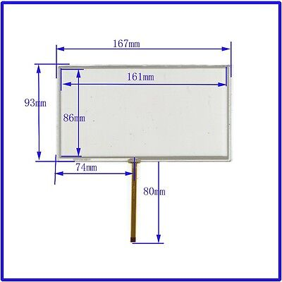 7 inch 4 wire Resistive Touch Panel 167mmx93mm  touch screen