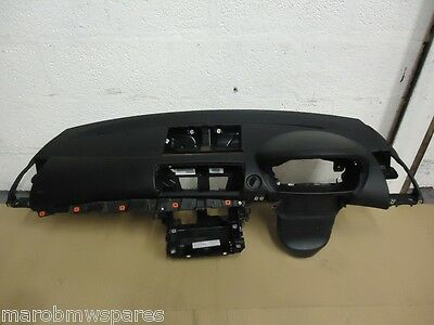 BMW E87 LCI 2007-2009 Facelift Complete Black Dashboard Console with Airbag