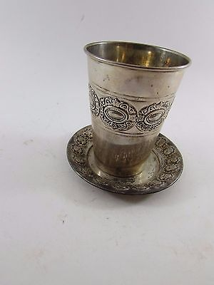 VINTAGE CLASSIC-SOLID-STERLING-SILVER-925-KIDDUSH-WINE-CUP-JUDAICA-58g