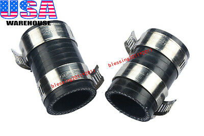 """FOR KAWISAKI HIGH TEMP EXHAUST COUPLING CLAMP 1/""""ID FOR KX80 KX125 250 BLACK 1PC"""