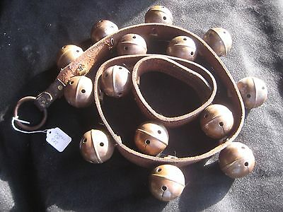 Vintage Horse Sleigh Bells, Large Brass With Leather, Sold By Each  #chi-027
