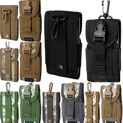 Universal Army Camo Belt Loop Hook Pouch Case Cover Holster Bag for Mobile phone