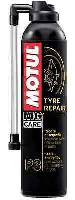 Motul P3 Tyre Repair Tire Foam 102990 Tyres Sealant Motorcycle Scooter Quad
