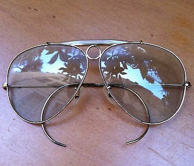 RARE! 60' Vintage Ray-Ban Bausch & Lomb Sunglasses AVIATOR * SHOOTER * U.S.A