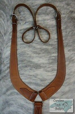 Harness Leather Western Pulling Collar Made In USA!! NEW HORSE TACK!!