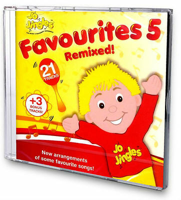 NEW! JO JINGLES FAVOURITES 5 REMIXED SINGALONG CD Songs Rhymes Nursery Music
