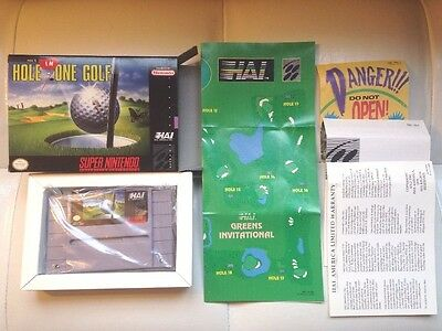 SNES SUPER NINTENDO GAME- HAL'S HOLE IN ONE GOLF w/box Mint!
