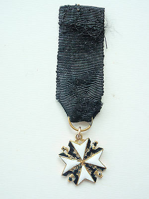 Germany Prussia Johanniter Order Miniature Made In Gold
