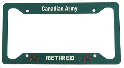 Canadian Army Retired License Plate Frame