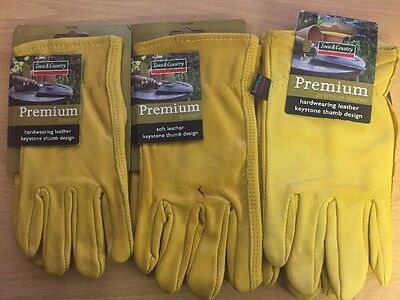 Town & Country Premium Leather Hardwearing Gloves