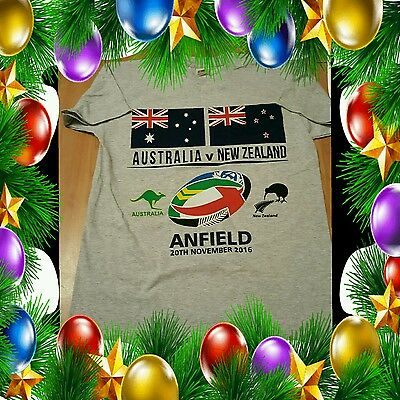 Australia v New Zealand Rugby League T Shirt -Four Nations Final At Anfield - XL
