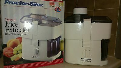 Proctor Silex Electric Juicer 2 speeds in box with instructions.
