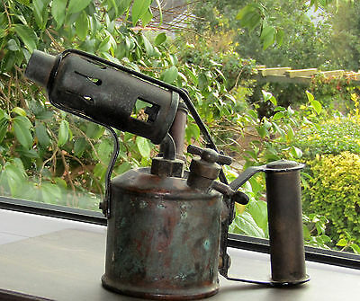 Genuine vintage blow torch made in England Steampunk