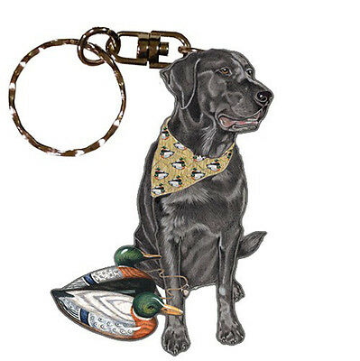 Black Lab Wooden Dog Breed Keychain Key Ring