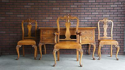 Antique Desk / Desk / Writing Desk / Library Desk / French Desk and Chairs