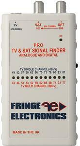 FRINGE PRO Signal Aerial and Satellite Meter - Ideal for home or caravan use