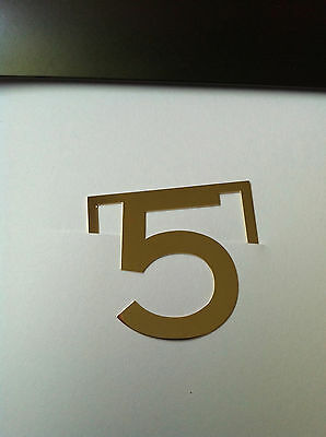 Authentic CHANEL N 5 Bookmark Golden Very Exclusive Brooch Rare Number Gift New!