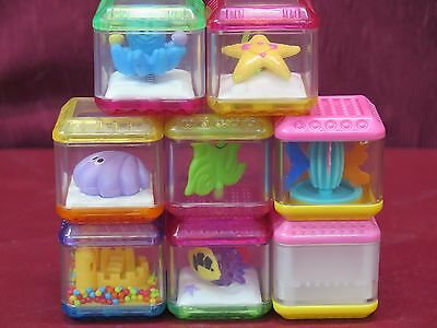 Fisher-Price Peek A Blocks Lot of 8 Sea Life Starfish Shells Sand Castle Octopus