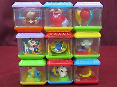 Fisher-Price Peek A Blocks Lot of 9 Circus Clowns Elephant Tiger Bear Balloons