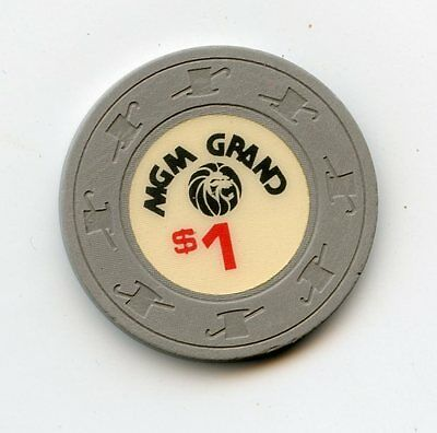 1.00 Chip from the MGM Grand Casino in Las Vegas Grey Lion