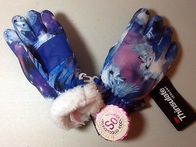 Girl's SO Unicorn Thinsulate Gloves - Size Small (4-6) - NWT