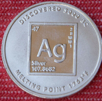 Periodic Table Silver - 1/10oz 999 pure silver coin