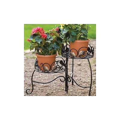 NEW Panacea 89173 Scroll & Ivy Plant Stand and Blk
