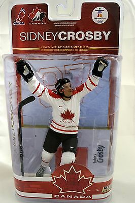 Sidney Crosby Team Canada 2010 Autographed Gold McFarlane Signed Base Signature