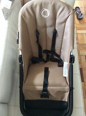 Bugaboo Frog Stroller Canvas Seat Fabric Sand Beige 5 point harness tan cameleon