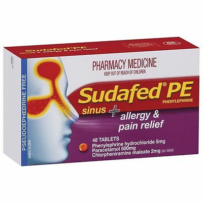 ~ Sudafed Pe Sinus And Allergy Pain Relief 48 Tablets