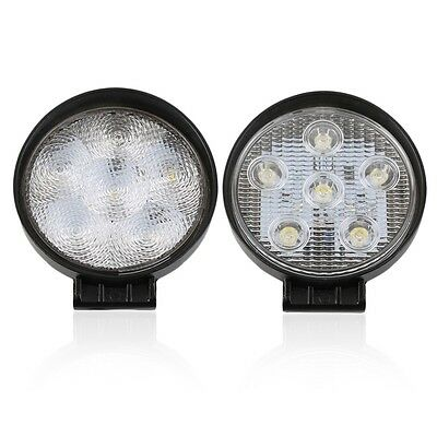 18W 6 LEDs Round 12V Spot/Flood Beam Work Lamp Light For Offroad Vehicles np